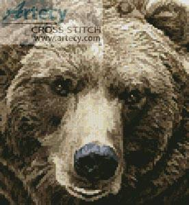 cross stitch pattern Mini Brown Bear