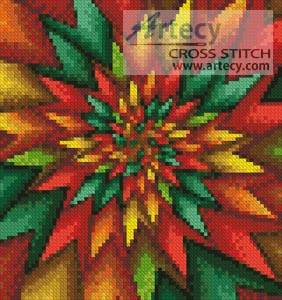 cross stitch pattern Mini Christmas Fractal