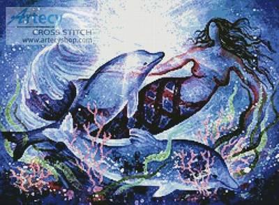 cross stitch pattern Mermaid