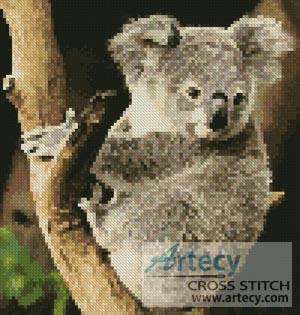 cross stitch pattern Mini Koala on a Branch