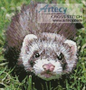 cross stitch pattern Mini Ferret