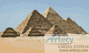 cross stitch pattern Mini Pyramids
