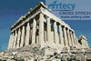 cross stitch pattern Mini Parthenon
