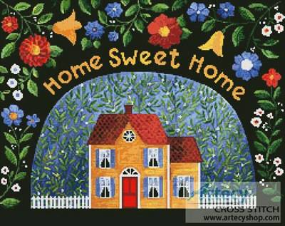 cross stitch pattern My Pretty Yellow House