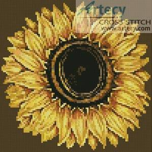 cross stitch pattern Mini Sunflower 2