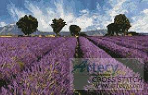 cross stitch pattern Mini Spring Landscape