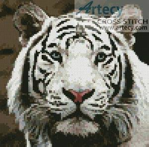 cross stitch pattern Mini White Tiger 2
