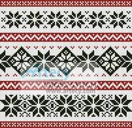 cross stitch pattern Nordic Cushion
