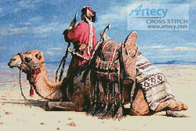cross stitch pattern A Nomad and his Camel