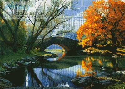 cross stitch pattern New York in October