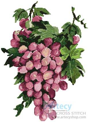 cross stitch pattern Purple Grapes