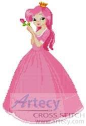 cross stitch pattern Pink Princess