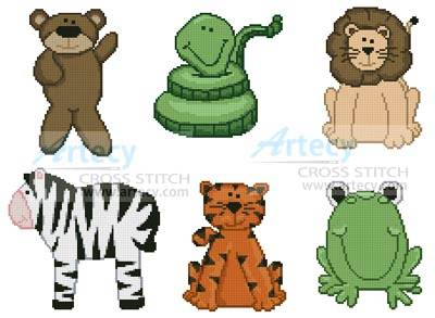 cross stitch pattern Playroom Animals