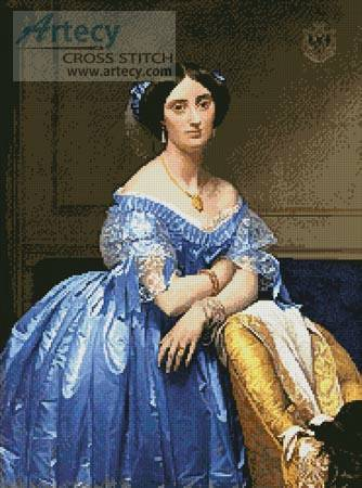 cross stitch pattern Princess Albert de Broglie