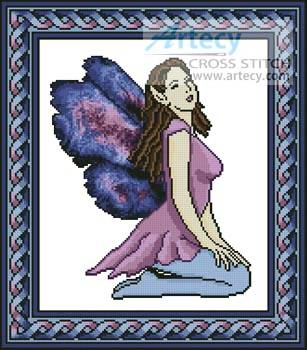 cross stitch pattern Purple Fairy
