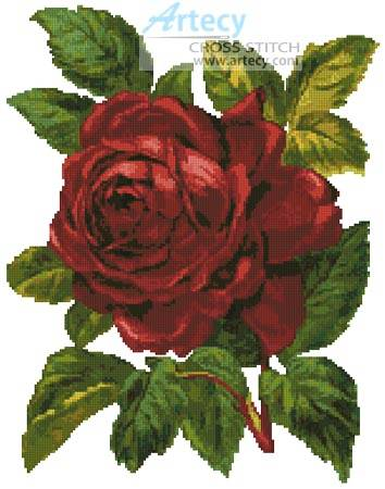 cross stitch pattern Red Rose