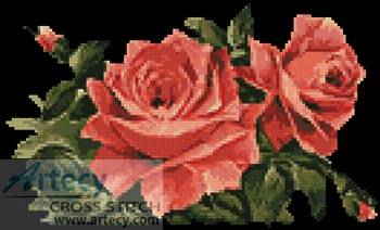 cross stitch pattern Red Roses 1