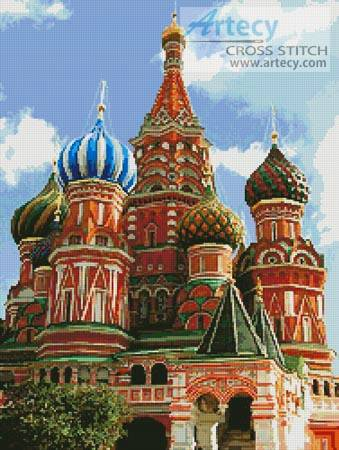 cross stitch pattern Saint Basil's Cathedral 2