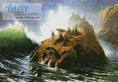 cross stitch pattern Seal Rock