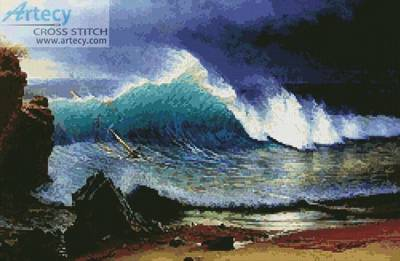 cross stitch pattern The Shore of the Turquoise Sea