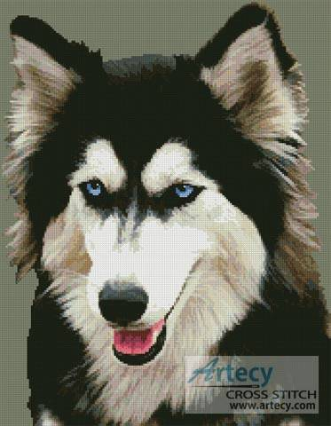 cross stitch pattern Siberian Husky
