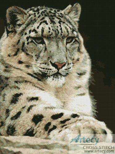 cross stitch pattern Snow Leopard 2