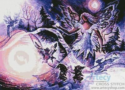 cross stitch pattern Snow Queen