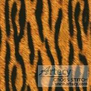 cross stitch pattern Tiger Cushion