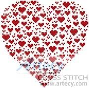 cross stitch pattern Valentine Heart
