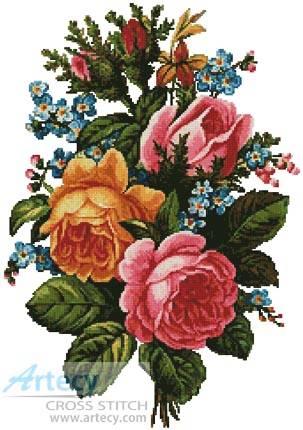 cross stitch pattern Victorian Bouquet 2