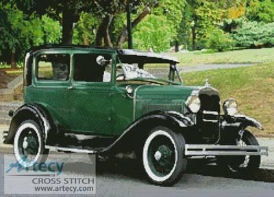 cross stitch pattern Vintage Car 4