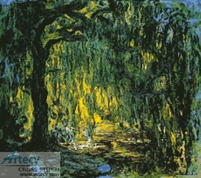 cross stitch pattern Weeping Willow