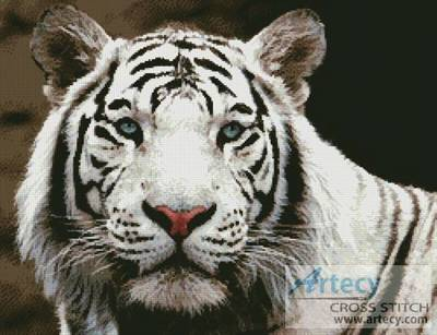 cross stitch pattern White Tiger 2