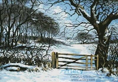 cross stitch pattern At Winters Gate