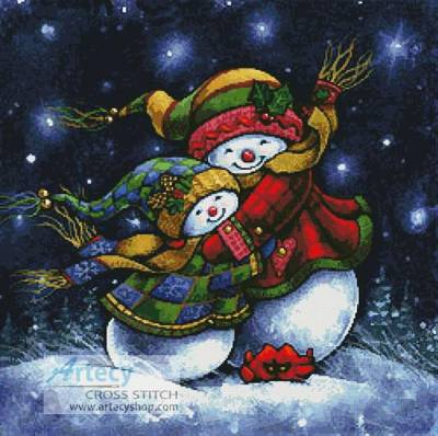 cross stitch pattern A Winter Hug