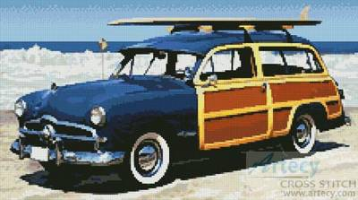 cross stitch pattern Woodie