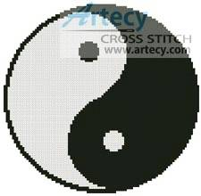 cross stitch pattern Yin and Yang