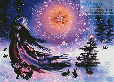 cross stitch pattern Yuletide