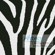 cross stitch pattern Zebra Cushion