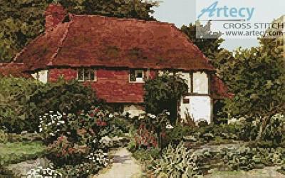 cross stitch pattern A Cottage Garden