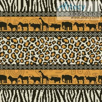 African Cushion Cross Stitch Pattern other