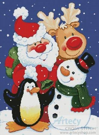 cross stitch pattern Christmas Pals