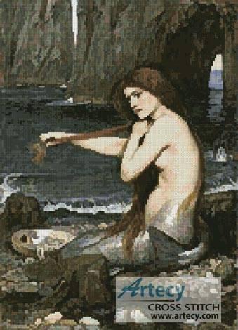 cross stitch pattern A Mermaid