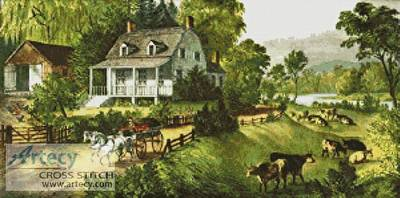cross stitch pattern American Homestead (Summer)