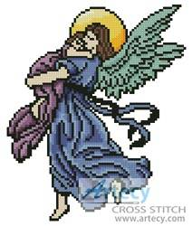 cross stitch pattern Angel Hug