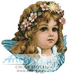 cross stitch pattern Angel Girl