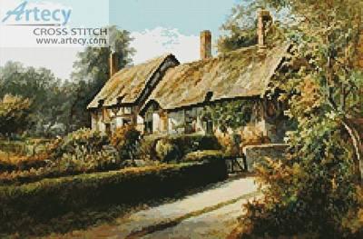 cross stitch pattern Anne Hathaway's Cottage