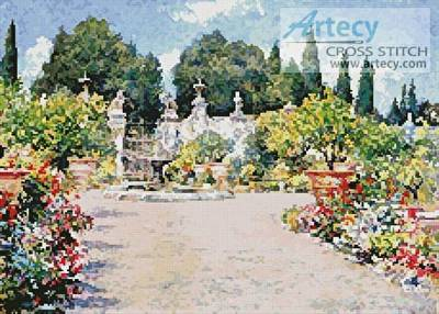 cross stitch pattern An Italian Garden
