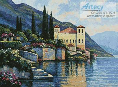 cross stitch pattern Reflections of Lago Maggiore