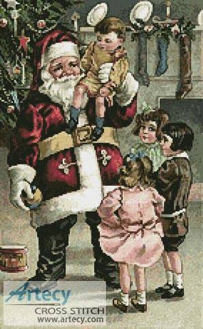 cross stitch pattern A Santa Greeting